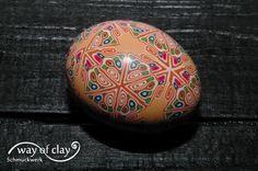 egg -  polymer clay, cane work