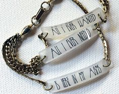 Enjoy the Silence by Depeche Mode Triple Chain Bracelet with Lyrical Text <3 WHERE CAN I GET THIS - <3, Paige