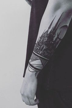 Castle forearm tattoo - 110  Awesome Forearm Tattoos  <3 <3