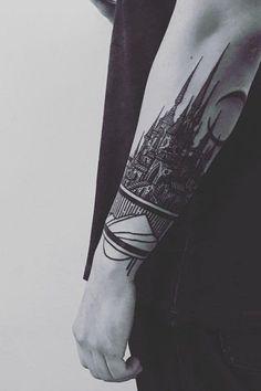 100 forest tattoo designs for men masculine tree ink ideas landscapes design and tattoo. Black Bedroom Furniture Sets. Home Design Ideas