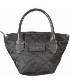 BARBOUR - Ladies Quited Tote Bag in Black Barbour Jacket 7829e2a0c947