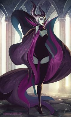 Maleficent with a sweeping cape - Dan Howard