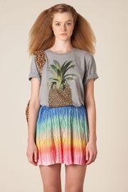 saia curta tricot rainbow