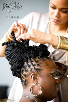 Locs :: Shop Natural Hair Accessories at DreadStop. Natural Hair Braids, Natural Afro Hairstyles, Natural Hair Care, Braided Hairstyles, Wedding Hairstyles, Natural Hair Styles, African Hairstyles, Dreadlock Styles, Dreads Styles