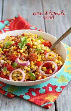 Corn & Tomato Salad nice for summer potluck