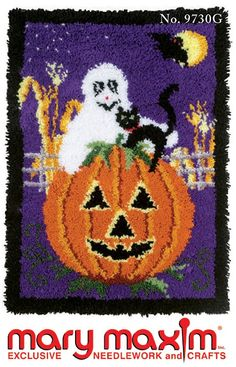 Make a Halloween latch hook rug with this pattern.