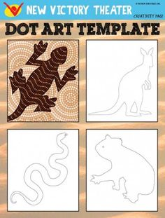 Support pour peinture aborigène avec jeunes enfants - Learn about traditional Aboriginal art and try it out yourself with this printable worksheet inspired by SALTBUSH at the Aboriginal Art For Kids, Aboriginal Dot Painting, Aboriginal Art Australian, Aboriginal Education, Aboriginal Art Animals, Aboriginal Culture, Aboriginal People, Kunst Der Aborigines, Classe D'art