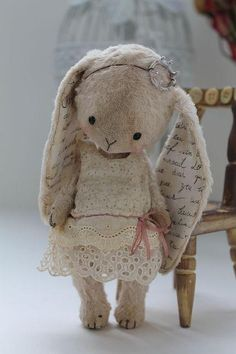 Vintage Bohemian Bunny.  I want this for myself!