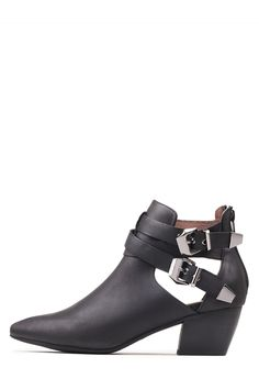Jeffrey Campbell Shoes PHILLIPS Booties in Black Pewter