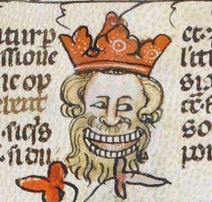 "King ""Sardonicus"" ? http://www.bl.uk/manuscripts/Viewer.aspx?ref=royal_ms_10_e_iv_f010r … @BLMedieval"