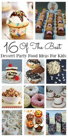 Looking for easy dessert kids party food ideas? Look no further! These 16 recipes are able to be made quickly and easily and the kids will love them all. Organizing parties for birthday's doesn't have to be stressful when you can pull the recipes out the bag. They are fun to make and fun to eat.