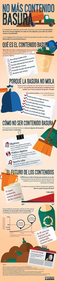 NO hagas contenido basura para tu empresa #infografia #infographic #marketing