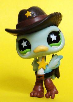 Littlest Pet Shop Wild West Sheriff Custom Figure LPS OOAK Cowboy Police Law Hat #Hasbro