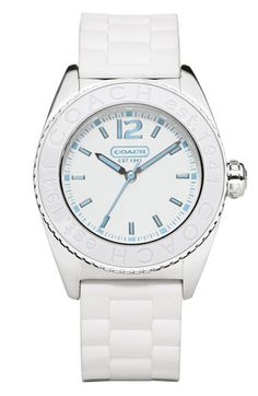 white Coach watch