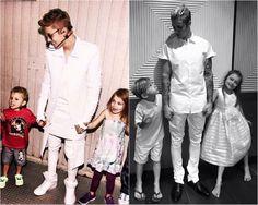 Justin Bieber, Jaxon Bieber and Jazmyn Bieber