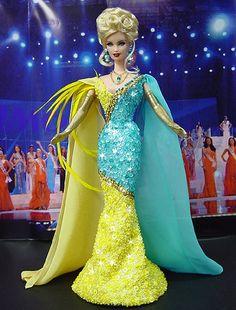 Barbie Top, Barbie Miss, Fashion Dolls, Fashion Dresses, Miss Pageant, Barbie Princess, Doll Costume, Barbie Collection, Barbie World