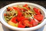 Imam Bayeldi (Braised Eggplant, Leeks and Tomatoes)