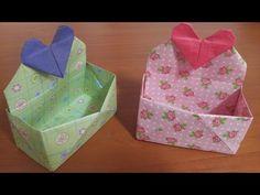 434.하트상자종이접기.오월의장미.origami.상자접기 - YouTube