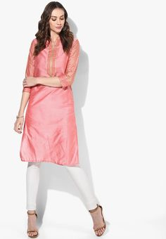 Hey Check this out !Sangria Mandarin Collar 3/4Th Sleeves Printed Kurta With Printed Detailing On Sleeves Placket And Sides from Jabong. http://jbo.ng/IJlRCPC