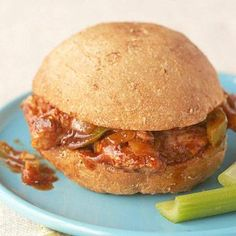 Barbecued Pork Sandwiches Great lunchbox sandwich and only 214 calories. Ww  Recipes, Diabetic Recipes cdf3096e5e