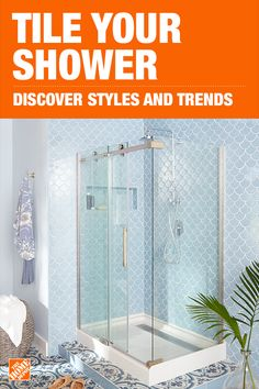 Shower - Tile - Flooring - The Home Depot Tropical Bathroom, Shower Tile, House Bathroom, Bathroom Interior Design, Bathroom Renos, Home, Bathroom Remodel Master, Home Remodeling, Bathroom Redo