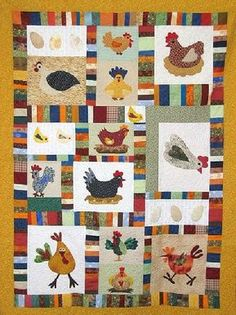 Quilting Sisters Funny Chickens CRAFTS SEWING