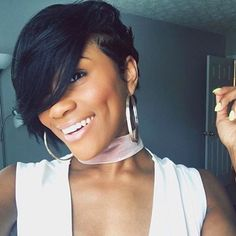 HAIRSPIRATION| Birthday behavior by @diamondmarett Love this cut✂️ #voiceofhair ========================== Go to VoiceOfHair.com ========================= Find hairstyles and hair tips! =========================