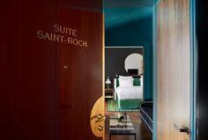Entrée de la suite Saint-Roch Le Roch Hotel, Spa Paris, Saint Roch, Hotel Spa, Decoration, Mirror, Storage, Furniture, Home Decor