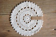 round crochet cotton dishcloth by amagpieandadove on Etsy. $7.00 USD, via Etsy.