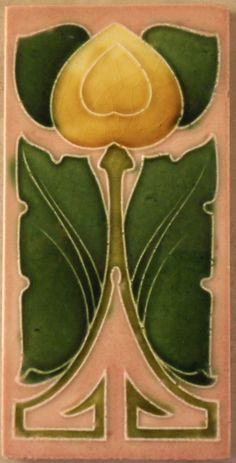 """I do like this stylish Art Nouveau design c1906, my tile reference 1032 in my book """"Art Nouveau Tiles with more Style"""""""