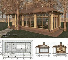 Gazebo, Pergola, Park Homes, Restaurant Design, Backyard, Outdoor Structures, Exterior, Deco, Nature