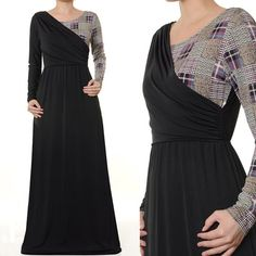 Islamic Abaya Jersey 2 Tone Toga Style Long Sleeves Maxi Dress Size S/M/L - 3466 on Etsy, $28.00