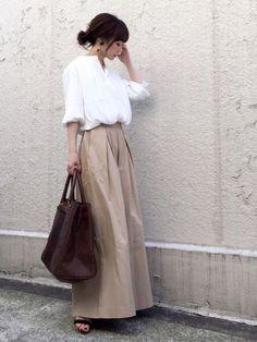 AZUL ENCANTOのシャツ・ブラウス「【洗濯機で洗える】バンドカラーギャザーブラウス」を使ったari☆のコーディネートです。WEARはモデル・俳優・ショップスタッフなどの着こなしをチェックできるファッションコーディネートサイトです。