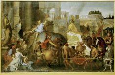 Charles LE BRUN (Paris, 1619 - Paris, 1690)  Entrée d'Alexandre dans Babylone ou Le triomphe d'Alexandre  1665  H. : 4,50 m. ; L. : 7,07 m.  Collection de Louis XIV  INV. 2898