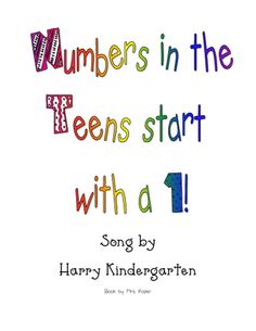 On the Really Roper Blog I found this fun song to help kids with the tricky teens. She has also created this book to go with the song.