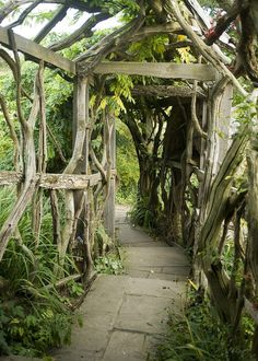 Living tunnel in Furzey Gardens, Hampshire,. Witch Garden: ~ Living tunnel in Furzey Gardens, Hampshire, England (by Steve Franklin). Garden Gates, Garden Art, Veg Garden, Garden Structures, Outdoor Structures, Jardin Decor, Dream Garden, Garden Projects, Garden Inspiration