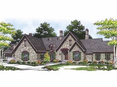 Eplans Chalet House Plan - Rambling Retreat - 5068 Square Feet and 5 Bedrooms(s) from Eplans - House Plan Code HWEPL14909
