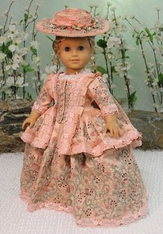 """MHD Designs """"Jardin de Provence"""" OOAK for American Girl Elizabeth and Others"""