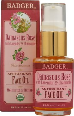 Badger Face Oil Damascus Rose with Lavender and Chamomile