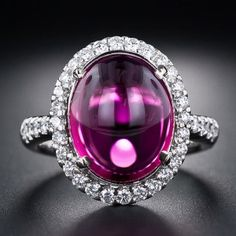 Beautiful Estate Tourmaline and Diamond Engagement / Wedding Ring.