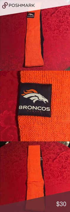 Beautiful Denver Broncos Scarf This scarf has never been worn and it would be perfect for you fellow Denver Bronco fans!! It is also reversible. NFL Accessories Scarves & Wraps
