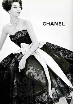 1957 Chanel advertisement. ☮k☮
