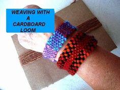 HAND WEAVING, cardboard loom, basic steps, how to diy, make a friendship bracelet, craft project