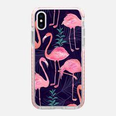 Casetify iPhone X Impact Case - Flamingo love by Priyanka Chanda