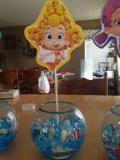 bubble guppies centerpiece ideas | Bubble Guppie centerpiece