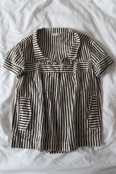 """Details about ***FRENCH-GIRL-FUNKY!***DRIES VAN NOTEN """"STRIPED"""" BABYDOLL TOP*40"""