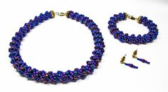 Purple Dutch Spiral Jewelry Set by kiddercreations on Etsy, $85.00