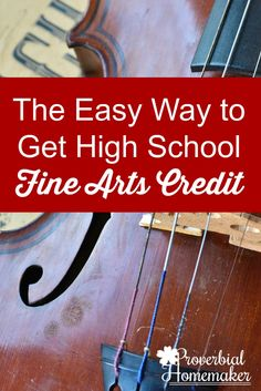 The Easy Way to Get High School Fine Arts Credit - Plus a printable composer download to help you do it!