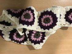 Starburst scarf crochet project by Debs D