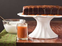 Chocolate Guinness Cake with Irish Cream Caramel Sauce